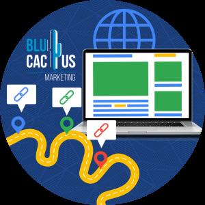 BluCactus - Que es el posicionamiento SEO - computadora del Internet mostrando información valiosa
