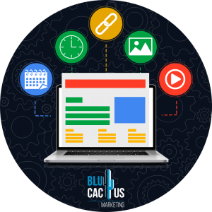 BluCactus - computadora con simbolos arriba de la misma