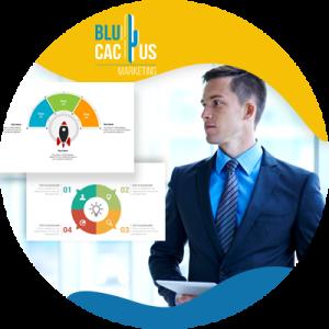 BluCactus - ¿Qué es un Pitch Deck? - hombre profesional feliz trabajando