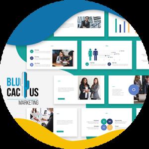 BluCactus - presentaciones con diferentes colores y fondos