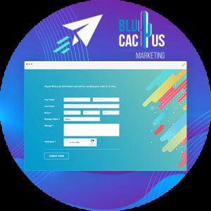 BluCactus - 20 Tendencias del Diseño Web - un formulario animao de agencia de mercadotecnia