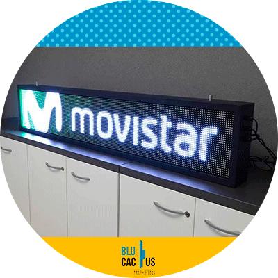BluCactus - logo de movistar luminoso