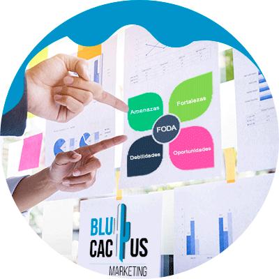 BluCactus - Plan de Marketing - personas observando un organigrama de colores