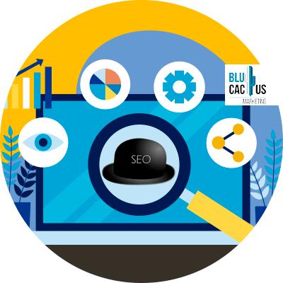 BluCactus - computadora con sombrero negro