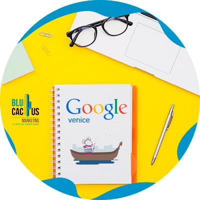 BluCactus - La Historia del SEO - libreta con logo de google