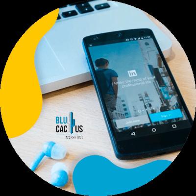 BluCactus - ¿Cómo crear tu Perfil de LinkedIn para Empresas? - linkedin mostrandose con un celular