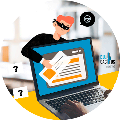BluCactus - ladron robando informacion