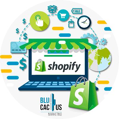 BluCactus - WooCommerce o Shopify - logo de shopify