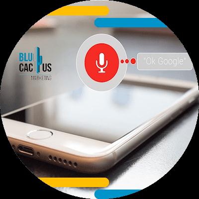 BluCactus - Búsqueda por voz - celular ostrando información importante de un mecanismo de voz