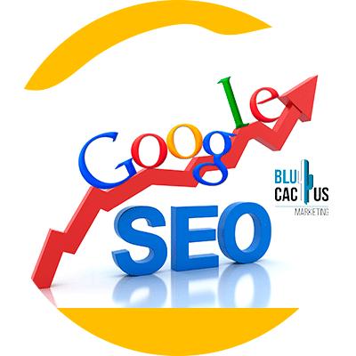 BluCactus - Diferencias entre SEO y SEM - logo de google con flecha