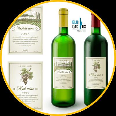 BluCactus - etiqueta de vino clasico