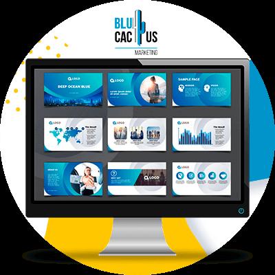 BluCactus - Diferencias entre una Presentación Corporativa y Comercial- computadora mostrando informacion importante