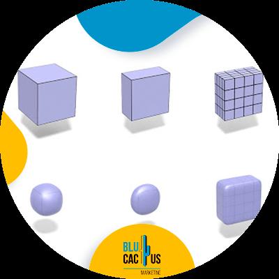 BluCactus - Diseño 3D con Textura - modelado de caja