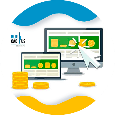 BluCactus - ¿Cómo funciona el display advertising en su negocio online? - computadora con informacion importante