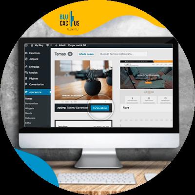 BluCactus - monitor con datos especificos