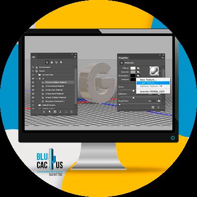 BluCactus - Diseño 3D con Textura - computadora con un diseño 3d