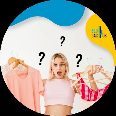 BluCactus - ¿Cómo atraer clientes a tu Tienda de Ropa? - mujer pensativa