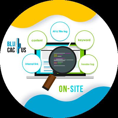 BluCactus - ASO VS SEO - computadora con información y datos importantes