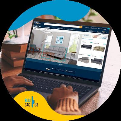 BluCactus - marketing para empresas de muebles y decoración. - computadora con informacion importante