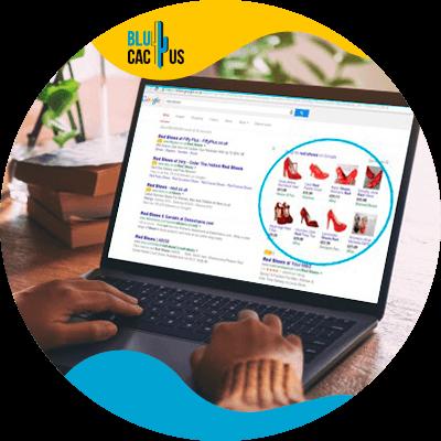 BluCactus - landing page para campañas de Google Ads - computadora con informacion