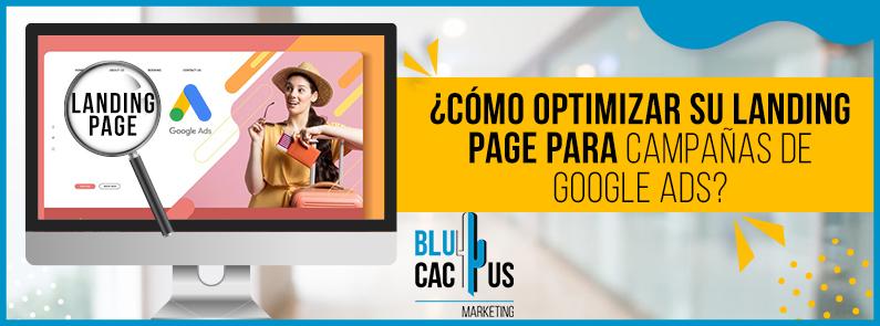 BluCactus - landing page para campañas de Google Ads - titulo