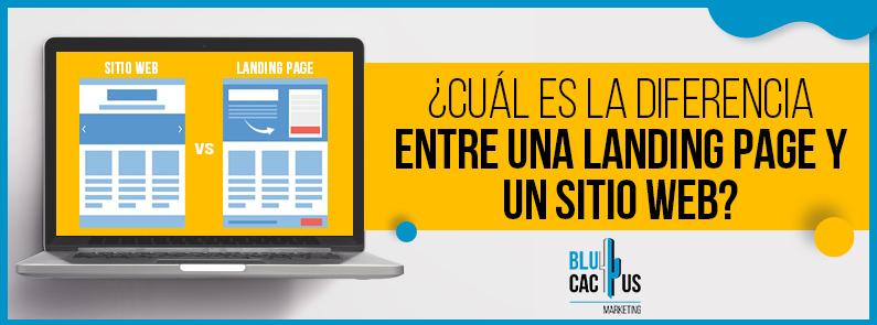 BluCactus - Diferencias entre una landing page y un sitio web - titulo