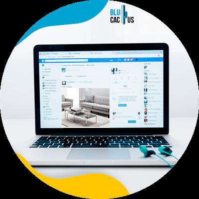 BluCactus - plataformas online para vender muebles y decoración - computadora con informacion importante