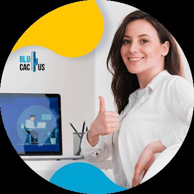 BluCactus - landing page para campañas de Google Ads - persona trabajando