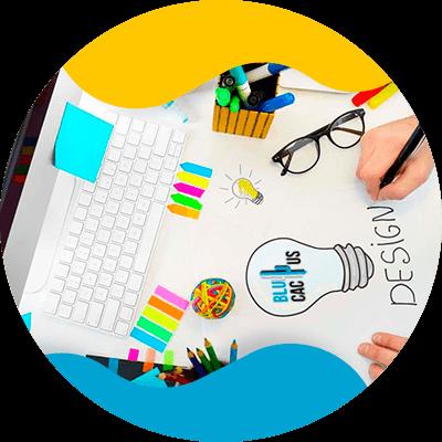 BluCactus - logo de una empresa de moda - piensa en colores