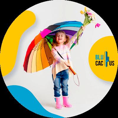 BluCactus - niña con paraguas