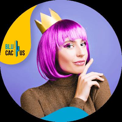 BluCactus - logo de una empresa de moda - violeta
