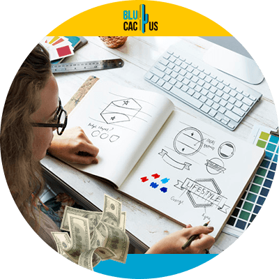 BluCactus - persona diseñando un logo