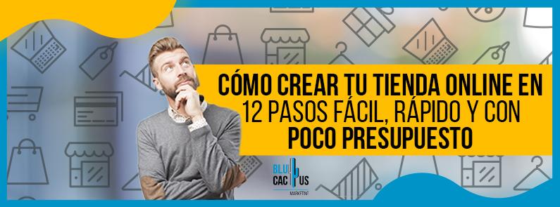 BluCactus - Cómo crear tu tienda online en 12 pasos fácil - titulo