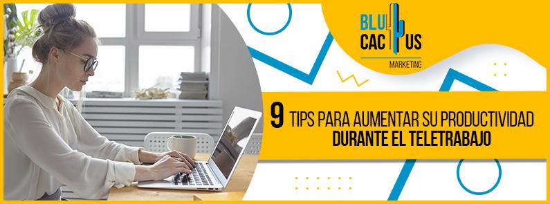 BluCactus - 9 tips para aumentar su productividad durante el teletrabajo - titulo