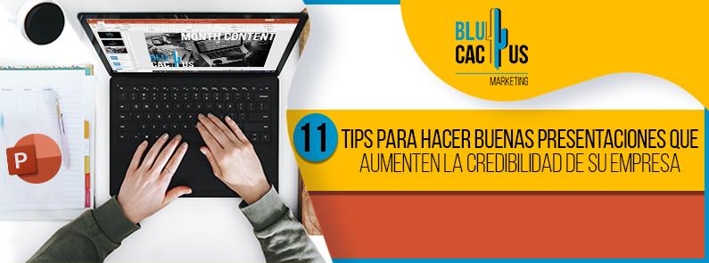 BluCactus - tips para hacer buenas presentaciones - titulo