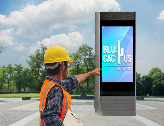 BluCactus - Construcción de tótems publicitarios