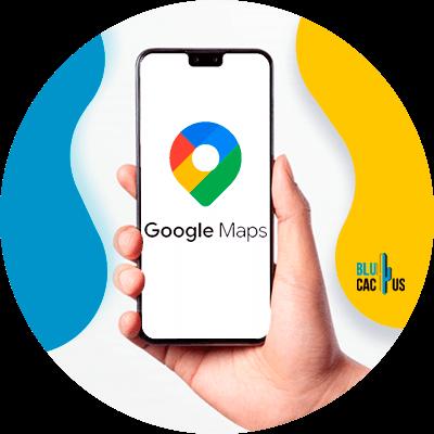 BluCactus - funciones de Google My Business - Pantalla con el logo de google maps