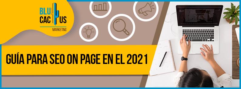 Blucactus - guia para seo on page en el 2021 - portada